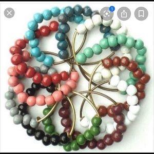 2 for $15 All handmade stretchy bracelets